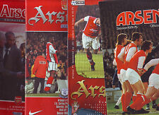 ARSENAL V EVERTON 1975-2006 TOP DIVISION VGC 5 QUALITY PROGS.