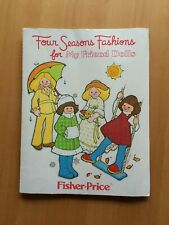 Vintage Fisher Price Book Four Seasons Fashions for My Friend Dolls and Uncut Se