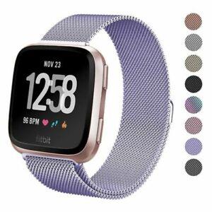 For Fitbit Versa 2 Milanese Magnetic Loop Stainless Metal Steel Strap Wrist Band