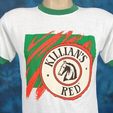 6c62f7c0abb77 NOS vintage 80s KILLIAN S IRISH RED BEER PAPER THIN RINGER T-Shirt XS coors  soft