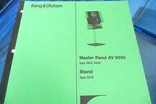 Service Manual-Anleitung Bang & Olufsen Master Panel AV 9000 (Type 2621,ORIGINAL
