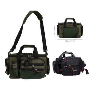 Lure Fishing Waist Bag Multi-Pocket Carp Fishing Tackle Shoulder Bag Outdoor AU