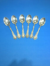 Group Of Six (6) Antique Sterling Silver Gorham Tea Spoon Lion Anchor 1890's