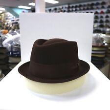 BORSALINO BROWN TRILBY FUR FELT FEDORA DRESS HAT