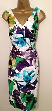GORGEOUS COAST FLORAL PRINTE EVENING DRESS UK SIZE 16
