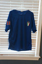 FIFA World Cup 2006 Italy 10 Blue Jersey, Sz L, GUC