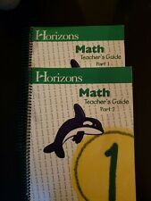 Horizons Math 1 Teacher's Guide, Part 1 and Part 2