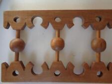 "Vintage Wooden Valance Handmade Detailed 52"" x 10 3/8"" x 3/4"""