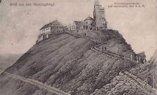 Seltene Litho AK 1921: Gruß aus dem Riesengebirge/Schneekoppenhäuser+Wetterwarte