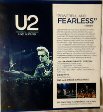 U2 Live InParis/J Cole Forest Hills Drive Homecomin FYC EMMY Promo DVD 2016 HBO