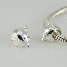 Mouse Charm Bead 925 Sterling Silver