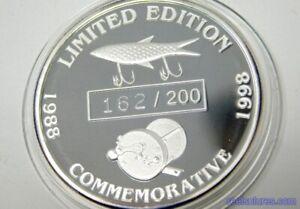 Florida Antique Tackle Collectors 10 Year Anniversary 1 Oz. 99.999% Silver Coin