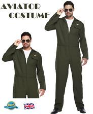 Costume da Aviatore Pilota uniforme 80 S Costume Vestito da Uomo Air Force Pilota Vestito