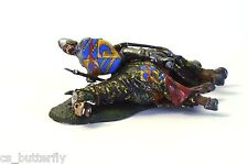 TOY SOLDIER Medieval battle Dead Horse and Knight miniature sculpture Handmade