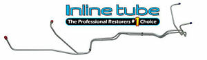 1964-1965 Ford Mustang Automatic Preformed Transmission Cooler Lines V8 OE Steel