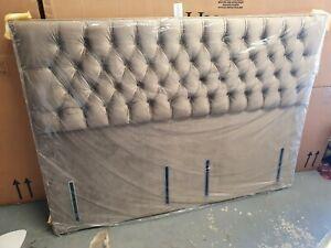 Bensons Kensington Full Depth Upholstered Headboard Super King Bronze 134cm high