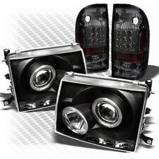For 97-00 Tacoma Black Pro Headlights + Smoked LED Perform Tail Lights