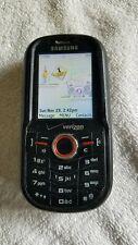 Samsung Intensity Verizon Black Cell Phone 1.3 Mp Slider Qwerty Sch-U450