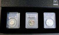1976 PCGS Autographed Bicentennial Silver GEM BU Set Quarter/Half Dollar/ Dollar