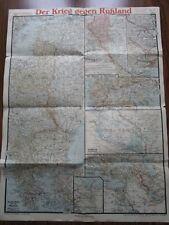 Map Military Theatre of Operations War against Russia Krieg gegen Russland 1917