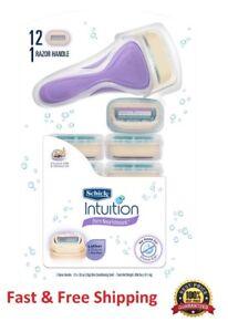 12 Schick intuition Razor Blades Coconut Almond Women Refills Cartridges Shaver