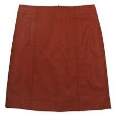 Jacqui E Orange Wool Fully Lined Skirt Size 6-18 18
