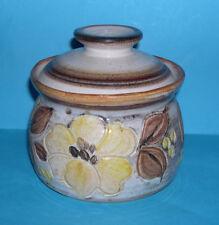 Cleo Hay Studio Pottery - Attractive 'Incised Design' Lidded Pot - Maker Marks.