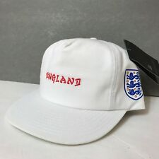 978a5584091 new 35 HURLEY ENGLAND NATIONAL SOCCER TEAM SNAPBACK HAT white UNSTRUCTURED  mens