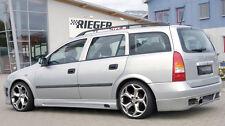 Rieger Seitenschweller mit Schacht und Ausschnitt für Opel Astra G 5-türer