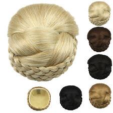 Hot Women Hair Chignon Synthetic Hair Bun Hairpiece Clip-In Hair Pieces Bun