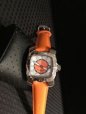 Invicta Women's 3188 Orange Leather Watch UNIQUE!