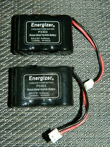 2 Energizer P3303 Cordless Phone Replacement Battery Batteries