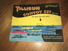 Rare Vintage Tillicum Milton Bradley Convoy Set Incomplete T104 Wood Boats