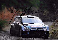 Jari-Matti Latvala SIGNED 12x8  Volkswagen Polo R WRC   Rally Sweden 2016