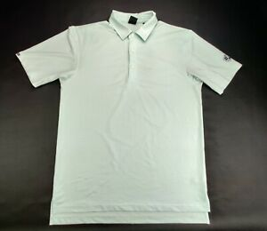 Dunning Golf Men's M Light Green/White Striped Polo Shirt Northwood Club Logo