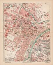 Antique map. ITALY. CITY MAP OF TURIN. 1905