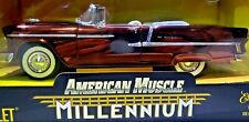ERTL MILLENNIUM 1955 CHEVY CONVERTIBLE BEL AIR ROOT BEER CHROME 1/18 SCALE