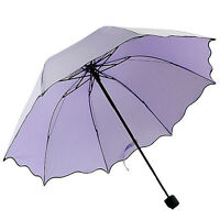 New Flouncing Folding Lotus Leaves Princess Dome Parasol Sun/Rain Umbrella