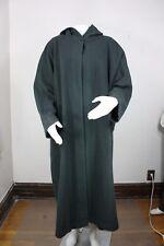 Eileen Fisher wool coat size 1 green made in usa hooded jacket fleece