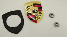 New Genuine Porsche 911 924S 924 944 968 964 928 912 Bonnet Badge Kit