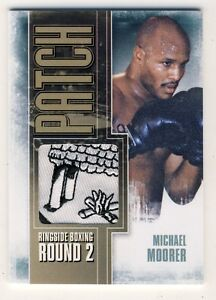 Michael Moorer 2011 Ringside Boxing Round 2 Trunks Patch Card Gold 1/1 #P-07