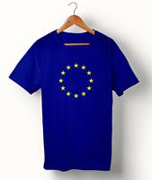 European Union T Shirt EU Flag Euro EU Stars Brexit Remain Gift Men Tshirt Top
