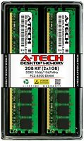 A-Tech 2GB 2x 1GB PC2-8500 Desktop DDR2 1066 MHz DIMM 240-Pin Non-ECC Memory RAM