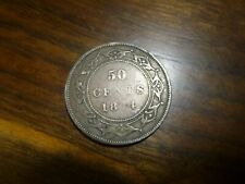 1874 NEWFOUNDLAND SILVER 50 CENTS