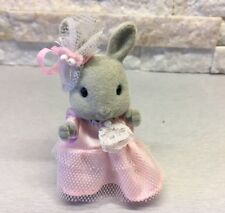 Sylvanian Families Grey Bright Eyes Rabbit Bridesmaid Pippa Wedding Rare Vintage