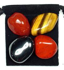 MALE FERTILITY HELP Tumbled Crystal Healing Set = 4 Stones + Pouch + Description