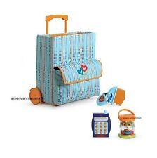 """American Girl BT BITTY TWIN STARTER SUITCASE 4 PC for 15"""" Dolls No Clothing NEW"""