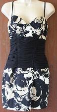 Elise Ryan strappy black/white/beige dress size 10