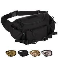 Men Nylon Tactical Bum Fanny Pack Sports Travel Single Chest Waist Hip Belt Bag