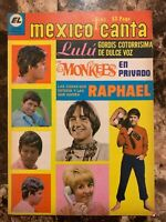 MEXICO CANTA MAGAZINE No 382 SEP 1968 LULU / MONKEES / RAPHAEL / COWSILLS + MORE